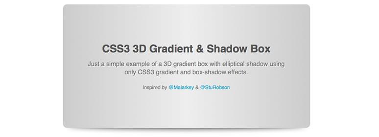 CSS3 Gradient 3d Box